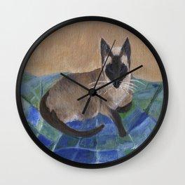 Siamese Napping Wall Clock