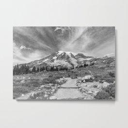 Trail Up Rainier Metal Print