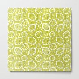 Atomic Lemonade_Green and White Metal Print