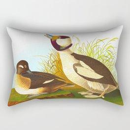 Bufflehead Duck Vintage Illustration Rectangular Pillow