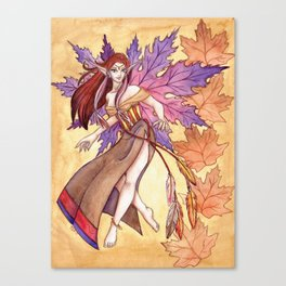 As The Leaves Fall Canvas Print