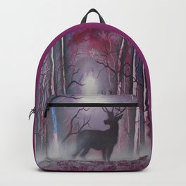 Deer In A Purple Forest Backpack