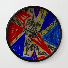 Scribble art Wall Clock