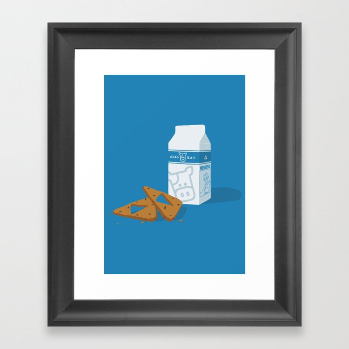 Milk & Triforce Cookies Framed Art Print