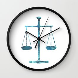 Scales of justice Wall Clock