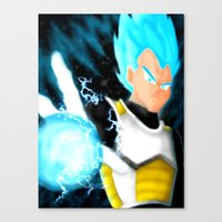 vegeta Canvas Prints featuring SSGSS Vegeta by AmaterasuVG