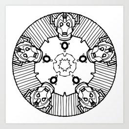 Cybermandala - Cyberman Mandala Art Print