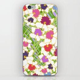 White Daffodil Rain iPhone Skin