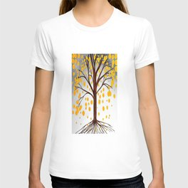 Tree Art Green and Yellow by Saribelle T-shirt