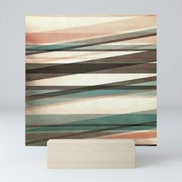 Semi Transparent Layers In Peach Brown And Green Mini Art Print