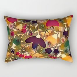 Floral Mixup Rectangular Pillow