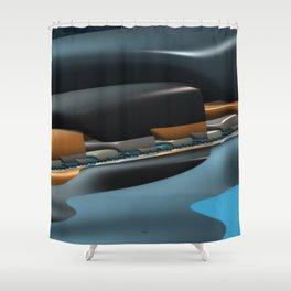 Streamliner no. 1 Shower Curtain