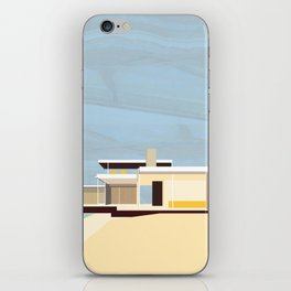 Mid Century Modern Kaufman House: Palm Springs: Architecture by Richard Neutra: Blue Yellow Brown iPhone Skin