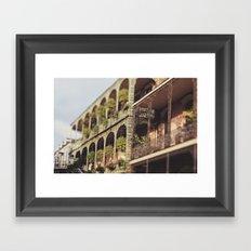 New Orleans Royal Street Balconies Framed Art Print