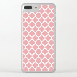 Moroccan Pattern Pink Soft Rose Clear iPhone Case