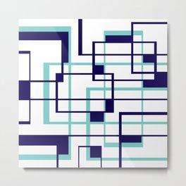 Blue Shapes Metal Print