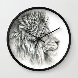 Lion - profile G044 Wall Clock