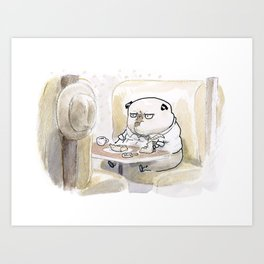 Fetch Ketchum: Lunch at Harry's Diner Art Print