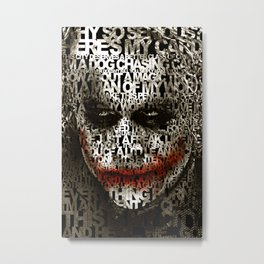 Halloween Psycopath Clown Typograph apple iPhone 4 4s 5 5s 5c, ipod, ipad, pillow case and tshirt Metal Print