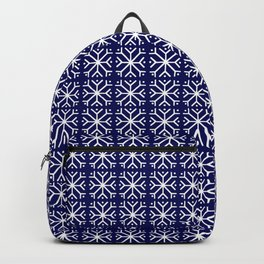 snowflake 14 For Christmas blue Backpack