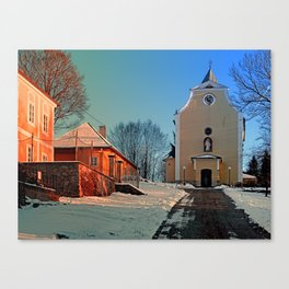 The village church of Berg bei Rohrbach I   architectural photography Canvas Print