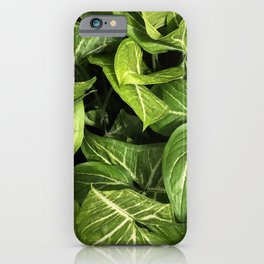 Botanical leaves photography iPhone Case