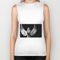 angel wings Biker Tanks featuring Angel Wings by Shaunia McKenzie