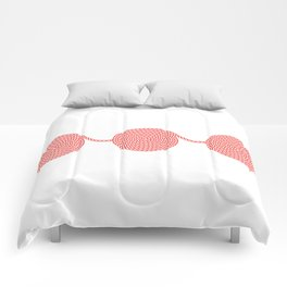 Yacht style. Rope spirals. Red & white. Comforters