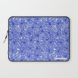 Periwinkle Blue Daisies Laptop Sleeve