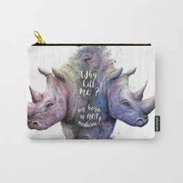 Save Rhinos Carry-All Pouch