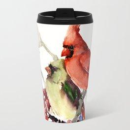 Caridnal Birds Travel Mug