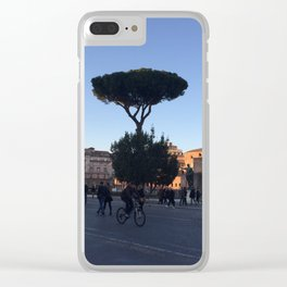 Sunset Italy Clear iPhone Case