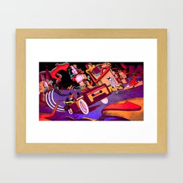 Hip Hop City Framed Art Print