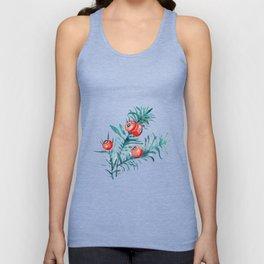Watercolor Yew Berries Unisex Tank Top