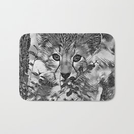 AnimalArtBW_Cheetah_20171201_by_JAMColorsSpecial Bath Mat