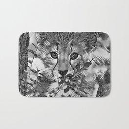 AnimalArtBW_Cheetah_20171201_by_JAMColorsSpecial Bath Mat