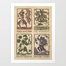 Avatar: The Gaang Art Print