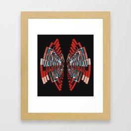 red box Framed Art Print