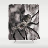 creepy Shower Curtains featuring Creepy! by IowaShots