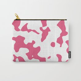 Large Spots - White and Dark Pink Carry-All Pouch