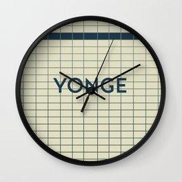 YONGE | Subway Station Wall Clock