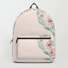 Three Hearts Cactus Rose Backpack