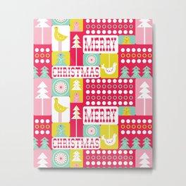Festive Christmas Collage Metal Print