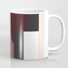 Striped Burgundy Deco Accent Coffee Mug