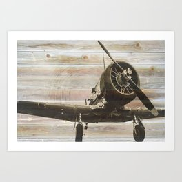 Old airplane 2 Art Print