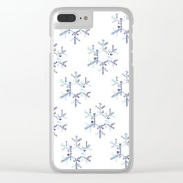 Snowflake Typography Clear iPhone Case