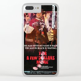 For a Few Dollars More (1967) - Vintage Film Poster Clear iPhone Case