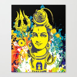Shiv Fusion: The Resonance of Bliss – Portal to Higher Dimensions Canvas Print