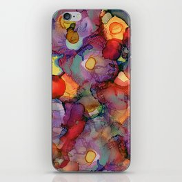 Alcohol Ink Flower Bouquet iPhone Skin