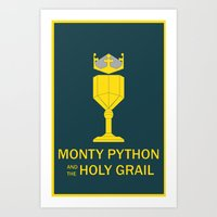monty python Art Prints featuring Monty Python and the Holy Grail by Witty-Wiccan